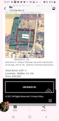 REDUCED Land in commercial area LaFayette