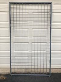 Gray Metal 4'x7' Gridwall Panels Store Display 2 Available $30 Each Manassas, 20112