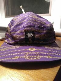 Stussy hat, purple and yellow