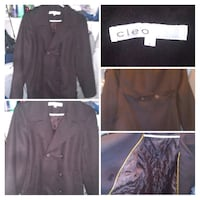 CLEO Size 12 Ladies 2 button wool coat London, N6H 1M9
