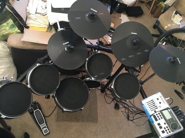 used 600 obo alesis dm10x electric drum set with all mesh heads for