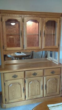 brown wooden cabinet with hutch Pittsburgh, 15235