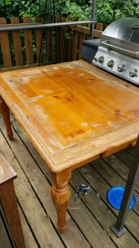 Table with 4 chairs... needs new top. Make offer Columbus, 43085
