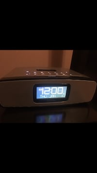 Oval gray and black digital alarm clock Edmonton, T6T 0B2