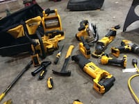 Yellow and black dewalt power tools 534 km