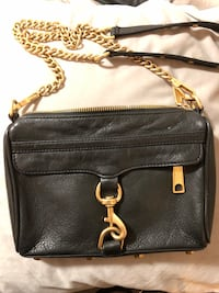 Rebecca Minkoff black crushed leather Gold purse crossbody  Toronto, M6B 4E9