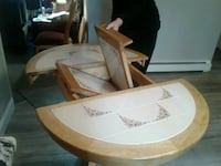 brown wooden table with chair 400 mi