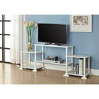 Mainstays No-Tool Assembly 3-Cube Entertainment Center for TVs up to 40, White| SKU# 63-159 Santa Ana