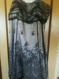 women's black and gray floral dress Pelahatchie, 39145