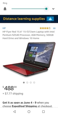 hp flyer red laptop