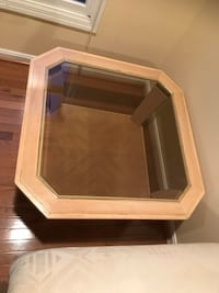 brown wooden framed glass top table Aldie, 20105