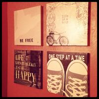 4 FUN canvas paintings with life quotes! 163 mi