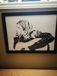 Kurt Cobain.. Hand painted acrylic.. 18by24inc  LONDON