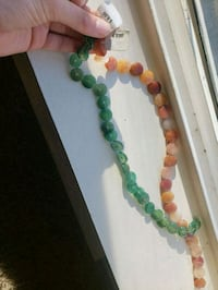 green and white beaded necklace Vancouver, 98685