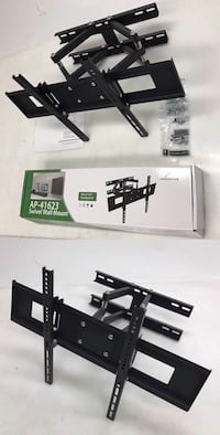 New in box 32 to 65 inches swivel full motion tv television wall mount bracket 120 lbs capacity with hardwares included  Los Angeles, 90032