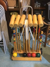 ** REDUCED ** Brookstone High Quality Wooden Croquet Set Olney, 20832
