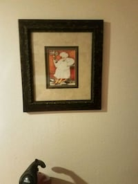 chef holding bottle painting and brown frame Hollister, 65672