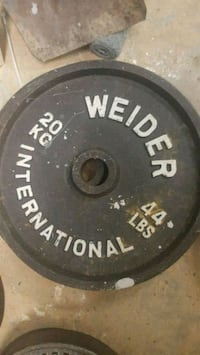Close to 600LBs of weights and inline weight bench