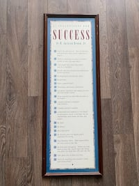 "Inspirational ""success"" framed wall art Markham, L3T 7N3"