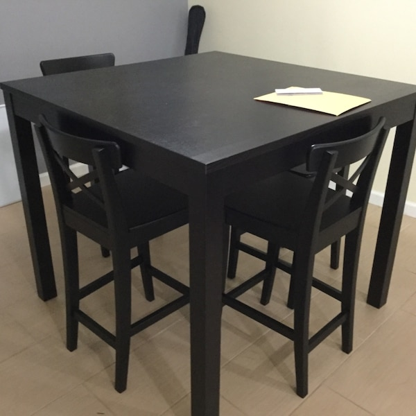 Bar Table And Chairs For Sale: Used Dining Table And Chairs (bar Height) For Sale In
