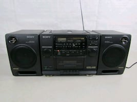 Sony Mega Bass AM/FM Radio CD Cassette Tape Player Boom Box CFD-440
