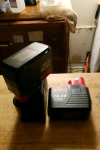 Bosch charger and 2 batteries  pick up only