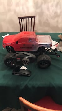 red and white plastic truck toy Sundridge, P0A