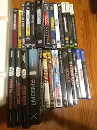 DVDs---books---- video games