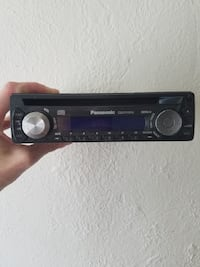 Black Panasonic car stereo
