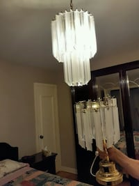 Chandelier and 2 lampe for night table Montréal, H1T 4A7