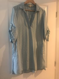 Cloth & Stone Anthropologie dress/shirt ~ size large ~ retailed 220+