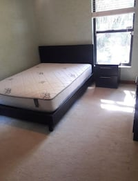 Queen Bed with nightstand and mattress   922 mi