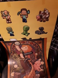 2 large Minecraft posters
