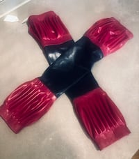 Unique one of a kind Latex Fetish Gauntlets/ Sleeves/ fingerless Gloves