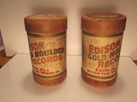 (2) Edison Early 1900s Cylinders Catharpin