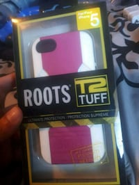 IPhone 5 pink/white roots case 15$  Delta