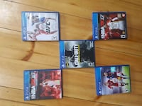 five Sony PS4 game cases Laurel, L0N 1L0