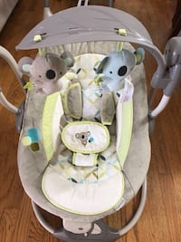 baby's white and gray bouncer Bristow, 20110