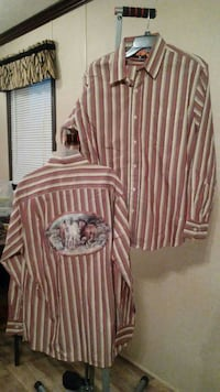 two red-and-gray striped sport shirts Delavan, 53115