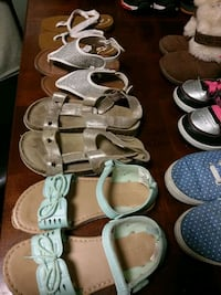 4 pair of girls size 8-11 sandals all for $10 Richmond Hill, 31324
