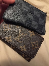 black and brown Louis Vuitton leather wallet Vaughan, L6A