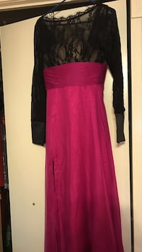 Pink and black lace long sleeve dress Washington, 20020