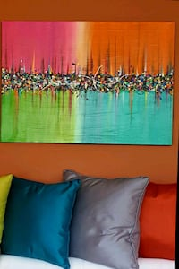 34x24 inches abstract acrylic painting