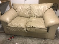 White leather 3-seat sofa Portales, 88130