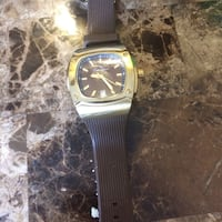 Square gold-colored chronograph watch with black strap Hyattsville, 20784