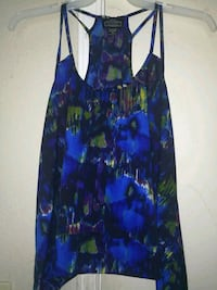 blue and green floral spaghetti strap tank Winton, 95388