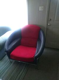 red and black leather armchair Southport, 28461