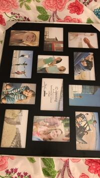 Brand new black 12 photo collage frame