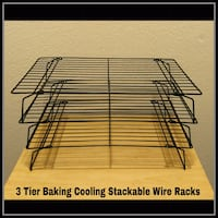 3 TIER BAKING COOLING STACKABLE WIRE RACKS  Ontario, 91762