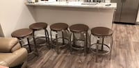 Four brown wooden bar stools Levittown, 11756